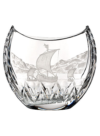 Waterford Crystal, House of Waterford Viking Long Ship in the Harbor Crystal Centerpiece, Limited Edition of 6