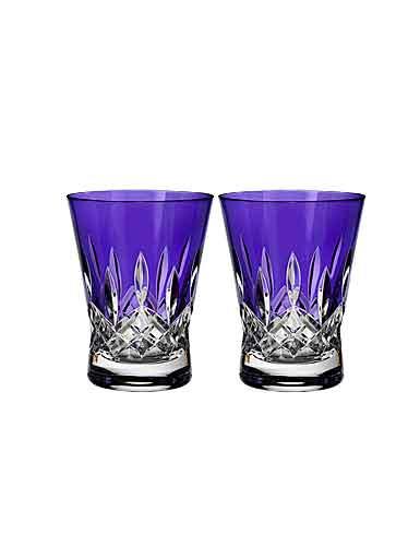 Waterford Crystal, Lismore Pops Purple DOF Tumblers, Pair