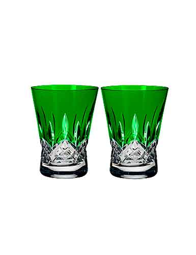 Waterford Crystal, Lismore Pops Emerald Crystal DOF Tumbler, Pair