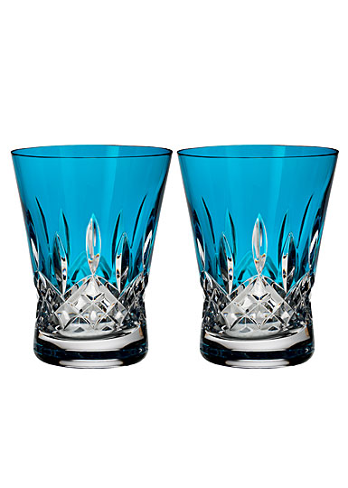 Waterford Crystal, Lismore Pops Aqua Crystal DOF Tumbler, Pair