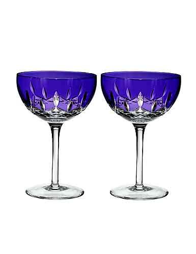 Waterford Crystal, Lismore Pops Purple Cocktail, Pair