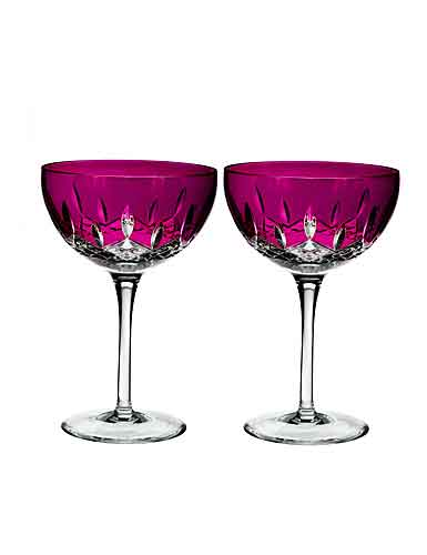 Waterford Crystal, Lismore Pops Hot Pink Cocktail, Pair