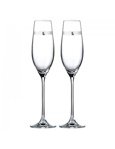 Royal Doulton, Promises Love Always Toasting Crystal Flutes Pair