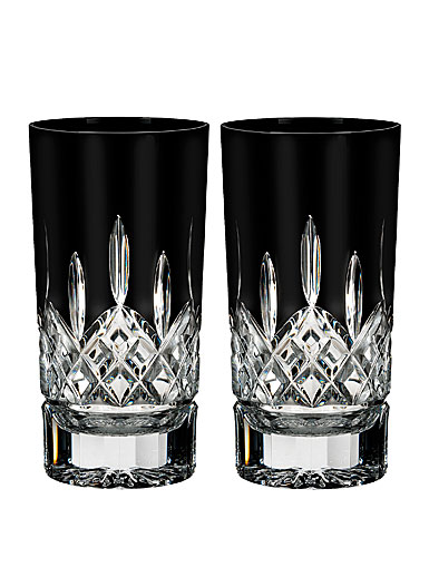 Waterford Crystal, Lismore Black Crystal Hiball Tumbler, Pair
