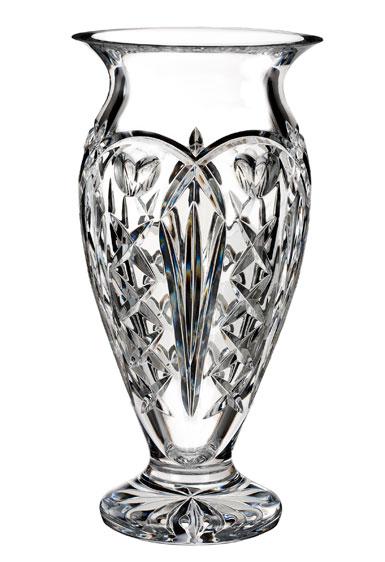 """Waterford Crystal, House of Waterford Tom Brennan's Ireland 12"""" Crystal Vase"""