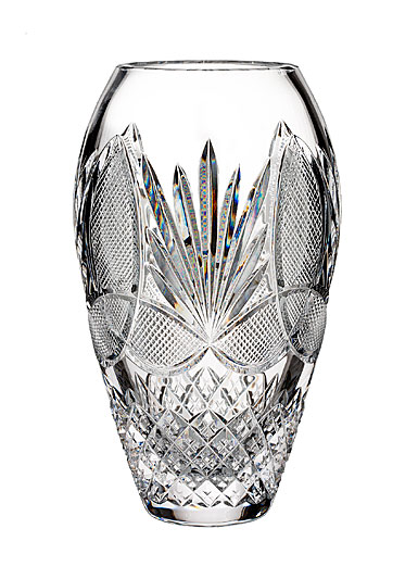 "Waterford Crystal, House of Waterford With Love From Ireland 9"" Crystal Vase"