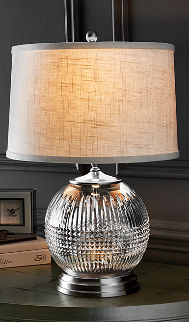 "Waterford Crystal, Lismore Diamond 21 1/2"" Table Crystal Lamp"