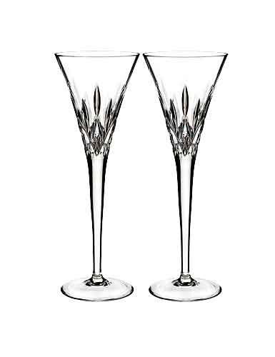 Waterford Crystal, Lismore Pops Clear Toasting Crystal Flutes, Pair
