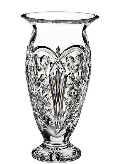 """Waterford Crystal, House of Waterford Tom Brennan's Ireland 10"""" Crystal Vase"""