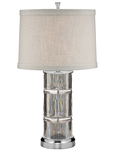 "Waterford Crystal, Linear 26"" Table Crystal Lamp"