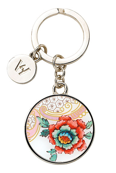 Wedgwood Wonderlust Key Ring, Rococo Flowers