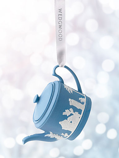 Wedgwood 2017 Iconic Teapot Blue Ornament