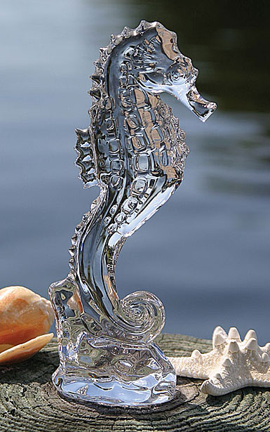 Waterford Crystal, Heritage Seahorse Crystal Sculpture