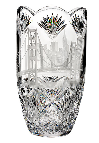 """Waterford House of Waterford America the Beautiful San Francisco 14"""" Vase"""