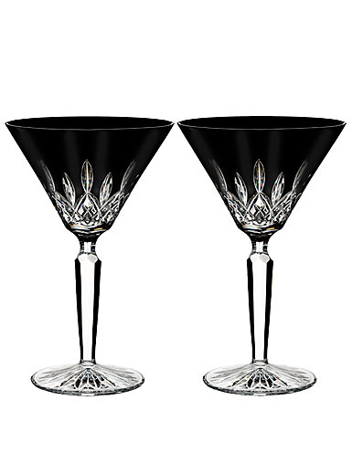 Waterford Crystal, Lismore Black Crystal Martini, Pair