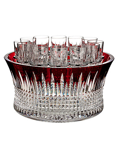 Waterford Crystal, Lismore Diamond Red Vodka Chiller