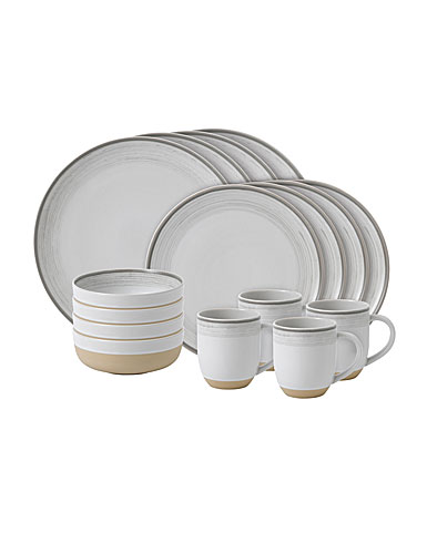 ED Ellen DeGeneres by Royal Doulton White Brushed Glaze 16 Piece Set