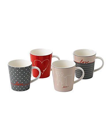 ED Ellen DeGeneres by Royal Doulton Signature Mug Set of 4 Mixed