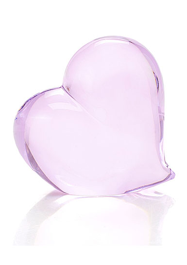 "Waterford Crystal 4"" Tender Pink Heart Paperweight"