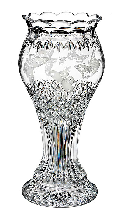 "Waterford Crystal, House of Waterford Martin Ryan Butter Bee 14"" Crystal Vase, Limited Edition of 400"