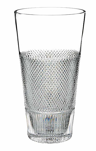 "Waterford Crystal, Diamond Line 12"" Crystal Vase"