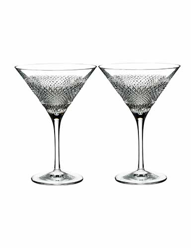 Waterford Crystal, Diamond Line Crystal Martini, Pair