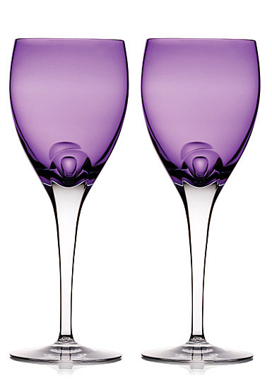 Waterford Crystal, W Heather Crystal Wine Goblets, Pair