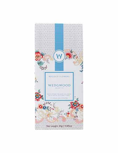 Wedgwood Wonderlust Rococo Flowers White Tea, Box Set of 12