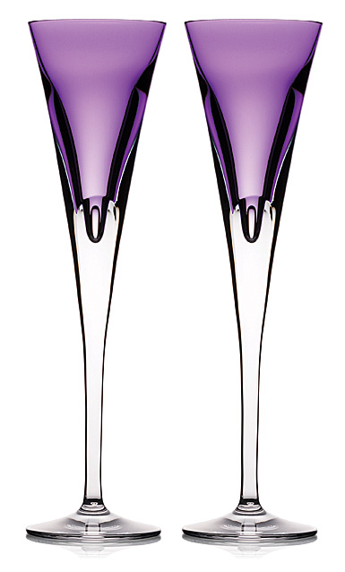 Waterford Crystal, W Heather Toasting Crystal Flutes, Pair