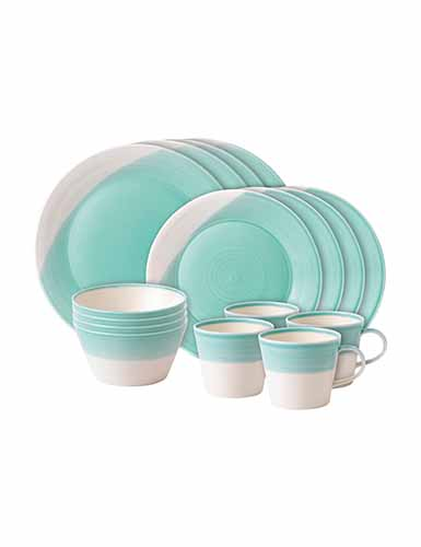 Royal Doulton 1815 Aqua 16-Piece Set