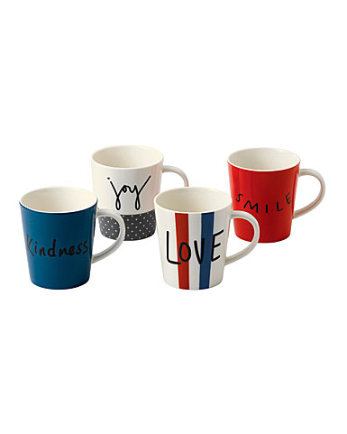 ED Ellen DeGeneres by Royal Doulton Joy Mixed Mug Set of 4