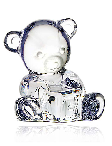 Waterford Giftology Baby Bear on Block Paperweight