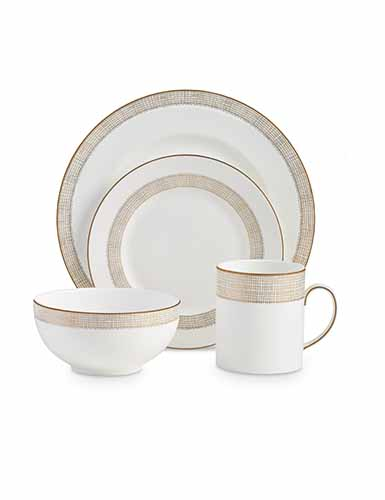 Vera Wang Wedgwood Gilded Weave 4-Piece Setting