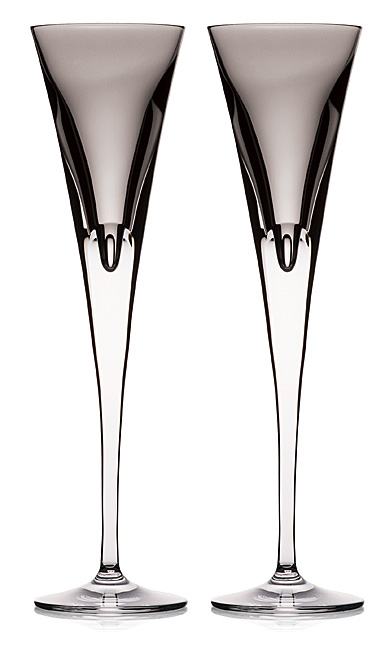 Waterford Crystal, W Shale Toasting Crystal Flutes, Pair