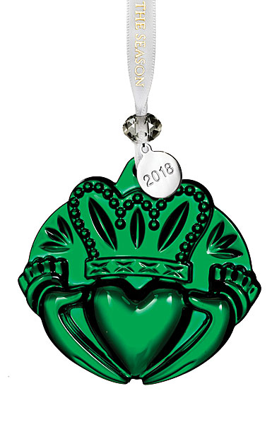 Waterford 2018 Claddagh Ornament, Green