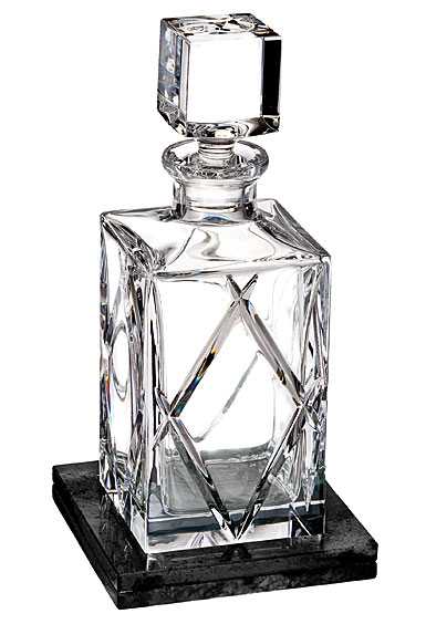 Waterford Crystal, Olann Crystal Decanter Square With Marble Coaster