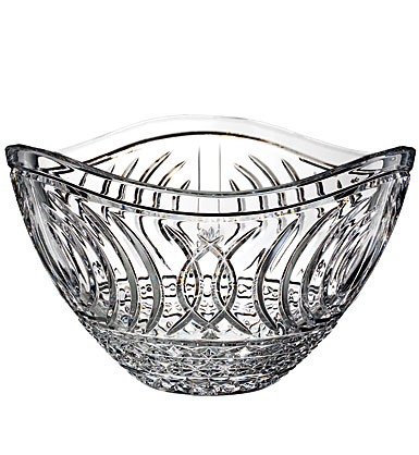 "Waterford Crystal, House of Waterford Waves of Tramore 12"" Crystal Bowl"