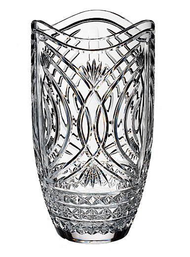 "Waterford Crystal, House of Waterford Waves of Tramore 14"" Crystal Vase"
