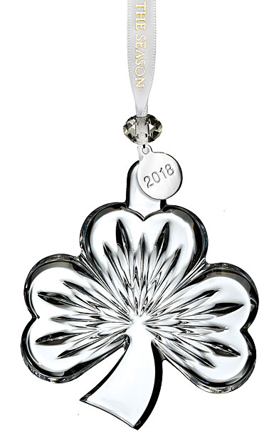 Waterford 2018 Clear Shamrock Ornament