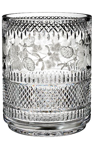 "Waterford Master Craftsman Copper Wheel Garland 10"" Vase, Limited Edition"