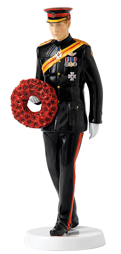 Royal Doulton Royals Prince Harry Remembering Our Fallen Heroes Armistice Day, Limited Edition
