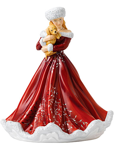 Royal Doulton 2018 Christmas Surprise Pretty Woman Figurine