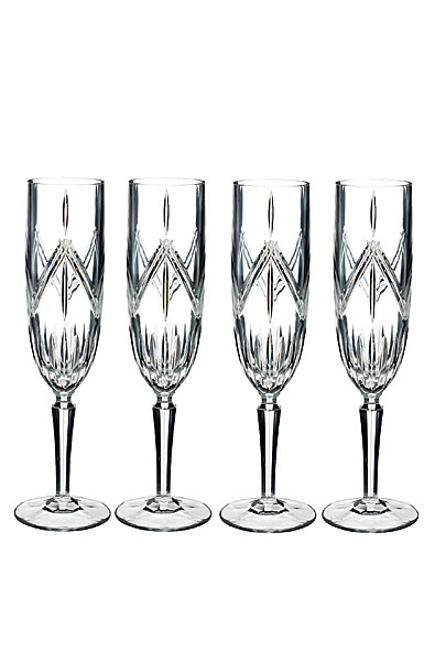 Marquis by Waterford Lacey Crystal Flute Set of Four