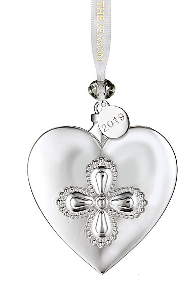 Waterford 2019 Silver Heart Ornament