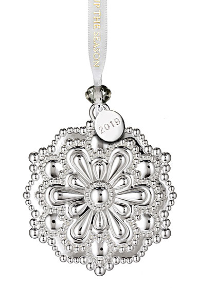Waterford 2018 Silver Snowflake Christmas Ornament