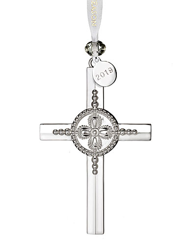 Waterford 2018 Silver Cross Christmas Ornament
