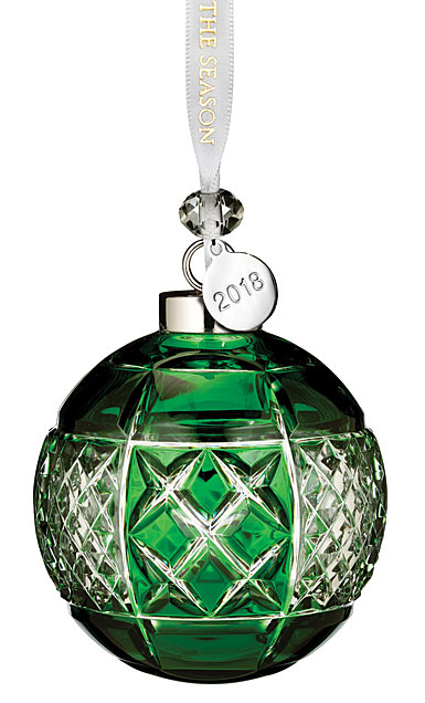 Waterford Crystal 2018 Emerald Ball Ornament