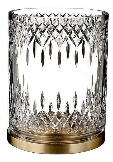 Waterford Crystal, Lismore Reflection With Gold Band Hurricane