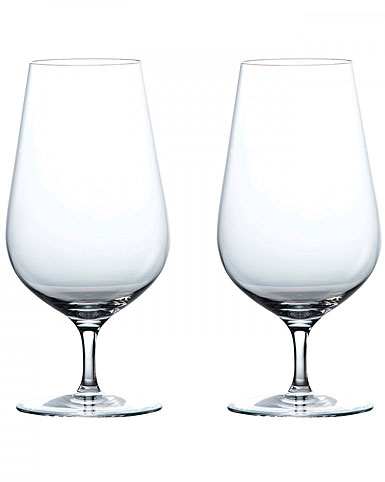 Wedgwood Crystal Globe Crystal Iced Beverage Crystal Glasses, Pair