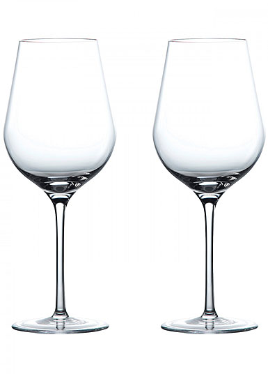 Wedgwood Crystal, Globe Crystal White Wine Glasses, Pair